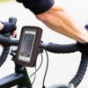 Sport man having Hands on handlebar of racing bike, drop bars, detail
